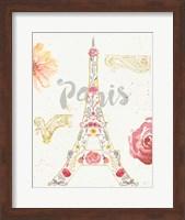 Framed Paris Blooms I