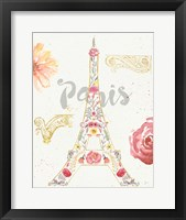 Framed Paris Blooms I