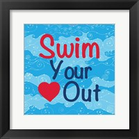 Framed Swim Your Heart Out - Girly