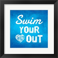 Framed Swim Your Heart Out - Blue