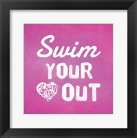 Framed Swim Your Heart Out - Pink
