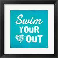 Framed Swim Your Heart Out - Teal
