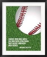 Framed Baseball Quote