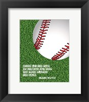 Framed Baseball Quote