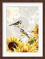 Framed Sunflower Birds II
