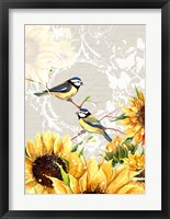 Framed Sunflower Birds II