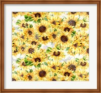 Framed Sunflowers Pattern