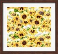 Framed Sunflowers Pattern