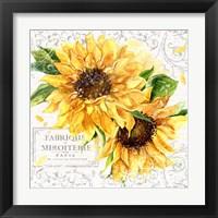 Framed Summertime Sunflowers I
