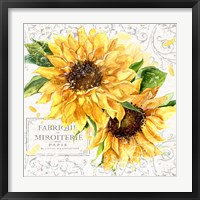 Framed Summertime Sunflowers I