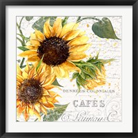 Framed Summertime Sunflowers II