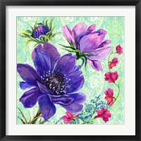 Bright Florals I Framed Print