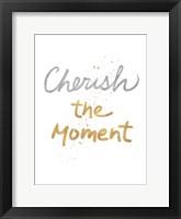 Framed Cherish On White
