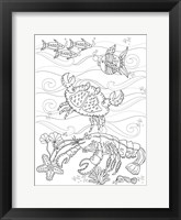 Framed Crab And Lobster