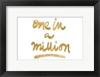 Framed Million On White