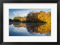 Framed Color On Grist Mill Pond