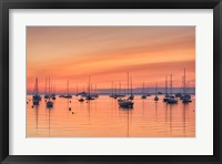 Framed Pastel Harbor