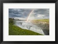 Framed Rainbow Over Gullfoss