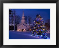 Framed New England Christmas
