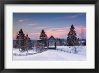 Framed Snow at the Bridge