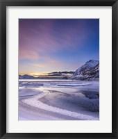 Framed Haukland Sunset - Vertical
