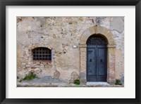 Framed Monticchiello Facade
