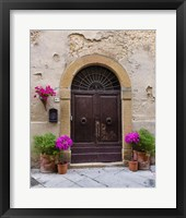 Framed Pienza Facade #1 - Vertical