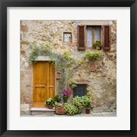 Framed Pienza Facade #2