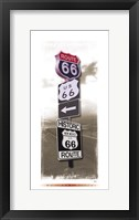 Framed Signs of Route 66 I