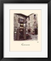 Ristorante Framed Print