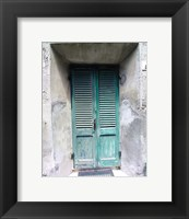 Framed Green Door