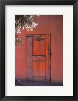 Framed Red Door