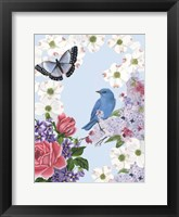 Bird Garden I Framed Print