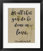 Divine Romance VI Framed Print