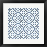 Chambray Tile II Framed Print