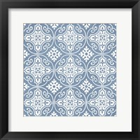 Chambray Tile IV Framed Print