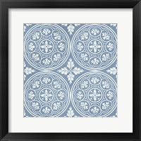 Chambray Tile V Framed Print