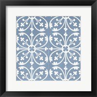 Chambray Tile VI Framed Print