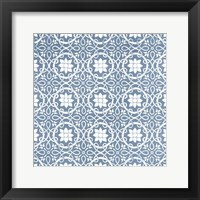Chambray Tile VII Framed Print