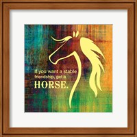 Framed Horse Quote 2