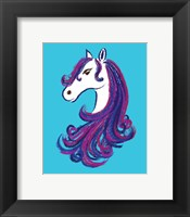 Framed Horse - Blue