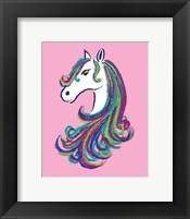 Framed Horse - Pink