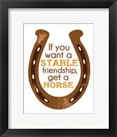 Framed Horseshoe Quote 1