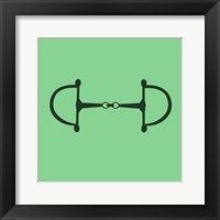 Framed Horse Bit - Green