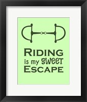Framed Riding is My Sweet Escape - Lime