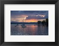 Framed Dusk On Lake Champlain