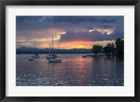 Framed Dusk On Lake Champlain