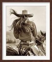 Framed Cowgirl