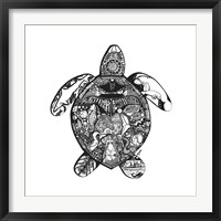 Framed Goodbye Sea Turtle