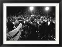 Framed Barack Obama at Campaign Rally